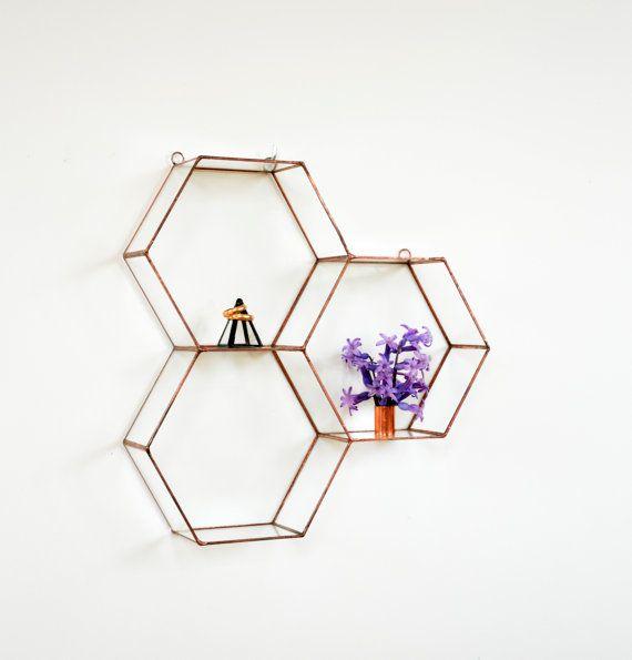 Hanging Glass Terrarium  Wall Geometric Planter by NojaGlassDesign
