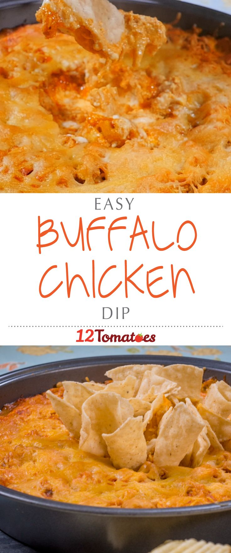 Buffalo Chicken Dip | Hot and spicy and packed with chicken and cheese, this dip…