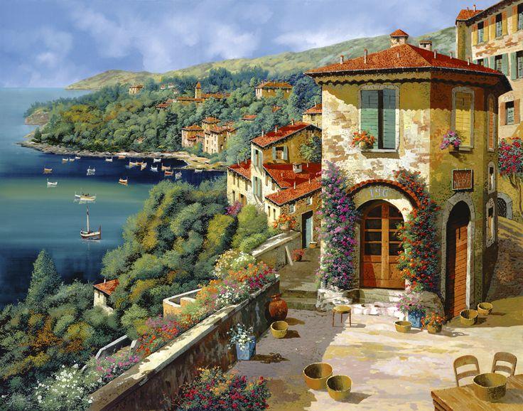 il villaggio sulla costa By Guido Borelli