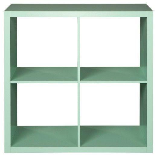 "4-Cube Organizer Shelf 13"" - Mint - Threshold™ : Target"