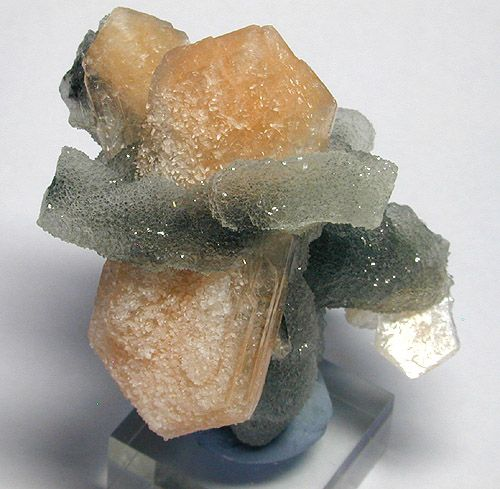 """Stilbite and Chalcedony. from The Deccan """"Traps"""" of India."""