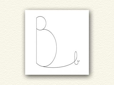 Baby (or The Birds and the B's) is a new way of looking at this expressive letter, and would make a nice (and unique!) Happy Birthday, New Baby Congratulations, Birth Announcement or Baby Shower greeting card.
