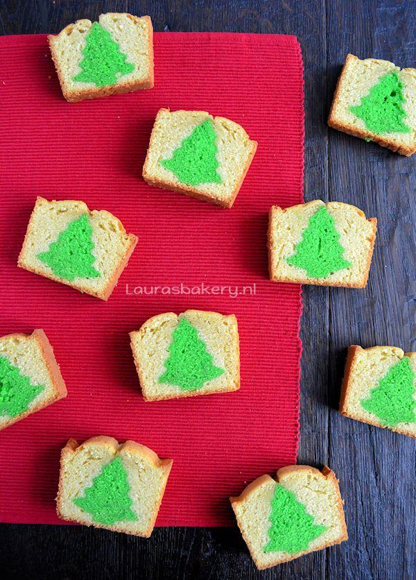 kerstboom cake