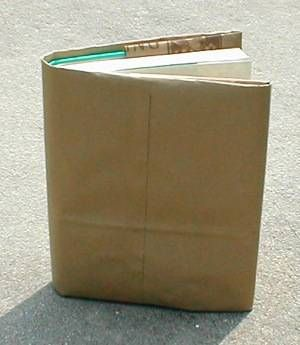 Using a brown paper bag for a book cover...i still think of this from time to time