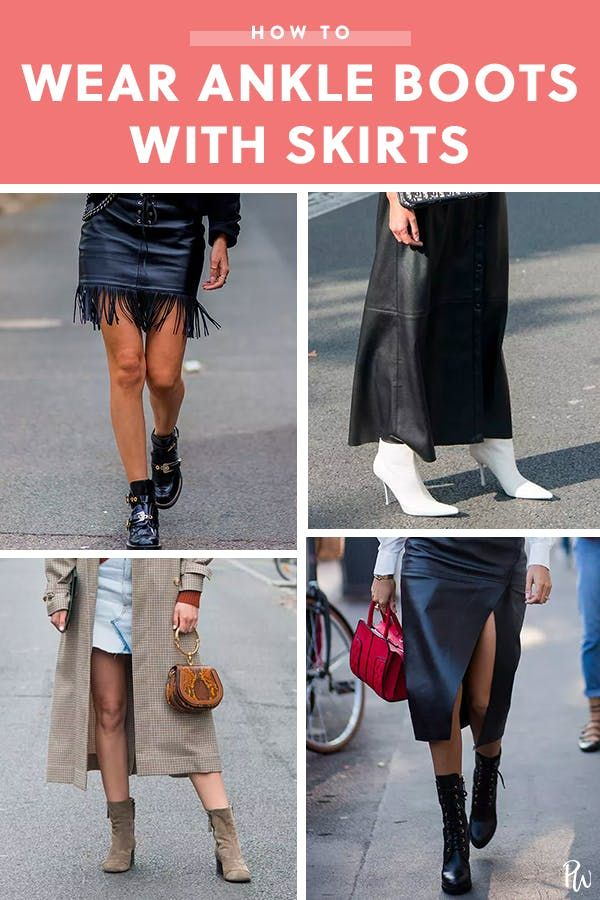 797d4006d5d How to Wear Ankle Boots with Skirts | Heels, Boots, Flats | How to ...