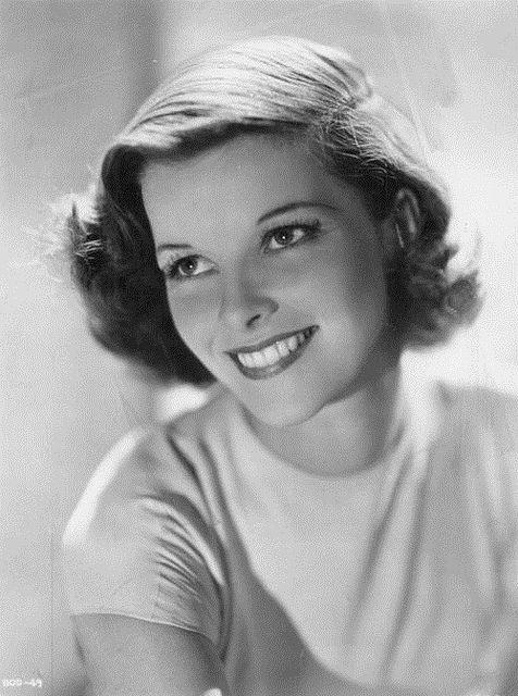 Katharine Hepburn, beautiful photo of her. Great smile!