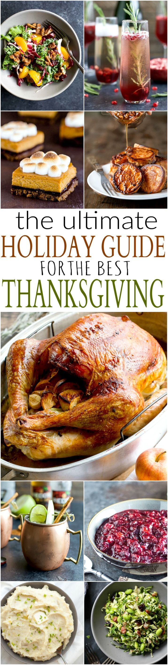 Look no further with the ULTIMATE Holiday Guide for Thanksgiving! This Turkey Day roundup has 45+ Thanksgiving recipes to ensure that you have the BEST and most flavorful feast around! | joyfulhealthyeats...