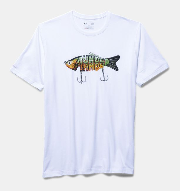 Ua crankbait men s fishing graphic t shirt shirts for Under armor fishing shirt
