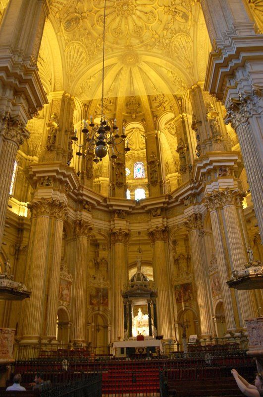Malaga Cathedral. Málalga, Spain. Our tips for things to do in Malaga: http://www.europealacarte.co.uk/blog/2010/08/22/malaga-travel-tips-best-things-to-do-in-malaga/
