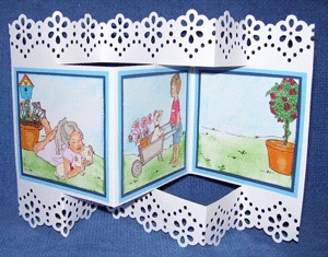 Sample card: Card 2066 Spring Time. Made By Susan Uncle