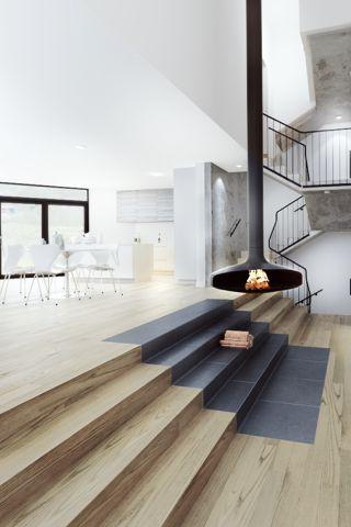 Hanging fireplace design