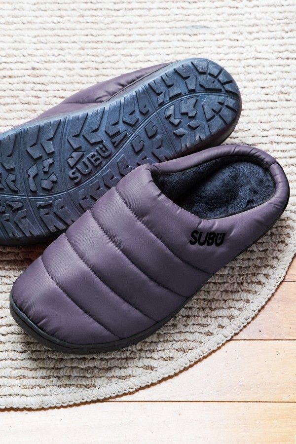 3c75248ac0c6 SUBU Down Indoor Outdoor Slippers I These indoor-outdoor slippers keep feet  toasty-warm at home or on quick trips outside. Find out how the slippers  are ...
