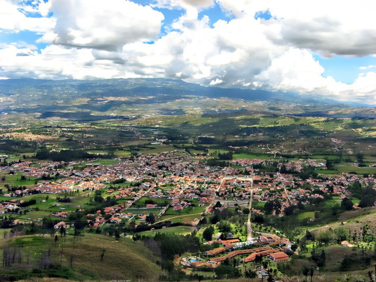 Villa de Leyva is a colonial town and municipality, in the Boyacá department of Colombia, part of the subregion of the Ricaurte Province. The town is located some 40 km west of Tunja and has a population of about 9,600 people.