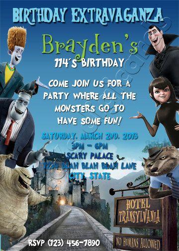 Hotel Transylvania Monsters Birthday Party by gloriasDigiCards, $15.00