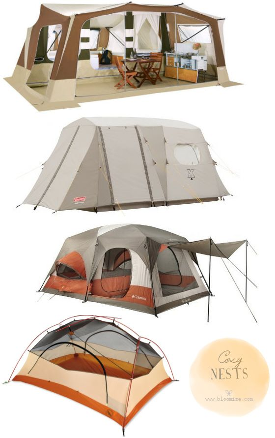 Trigano Olympe, Coleman Exponent Northstar X4, Columbia Cougar Flats II and Outwell Hawaii Reef camping tents, tents sleep 3 to 10 persons @ bloomize.com