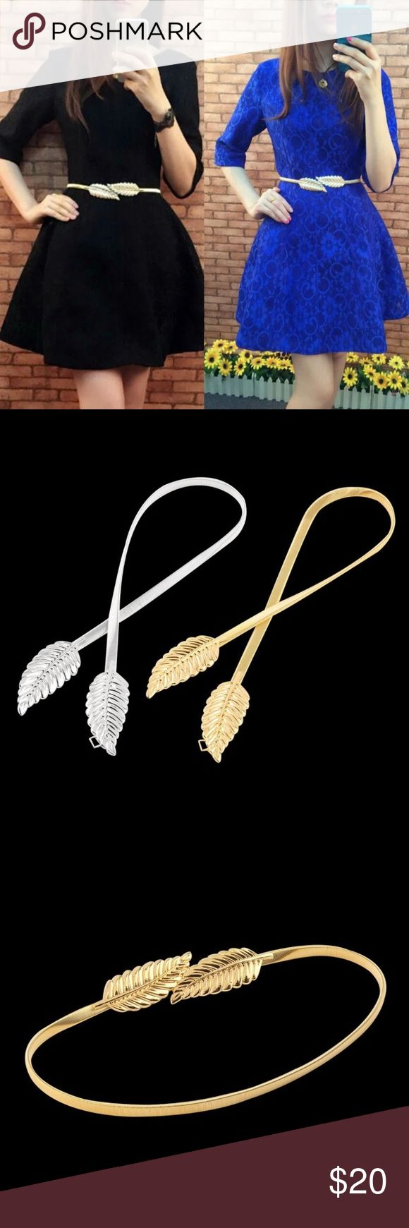 Gold Leaf Belt Ladies Fashion Leaf Belt. This listing is for the gold belt. Simple bit definitely classy and cute ! Accessories Belts