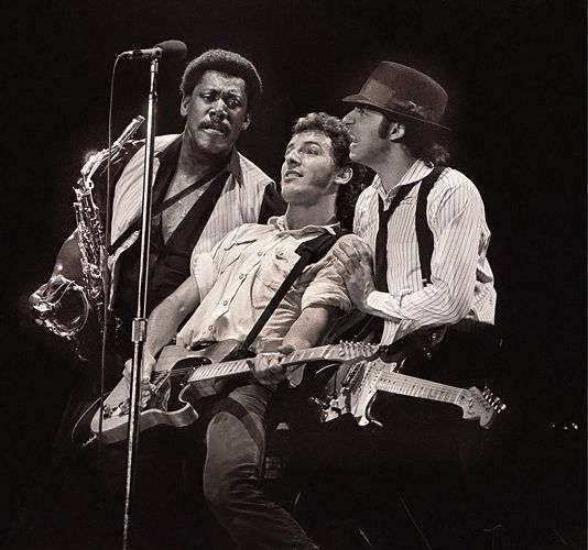 E Street Band For Life: Clarence Clemons, Bruce Springsteen and Little Steven Van Zandt perform in Rotterdam, Netherlands on April 29th, 1981.