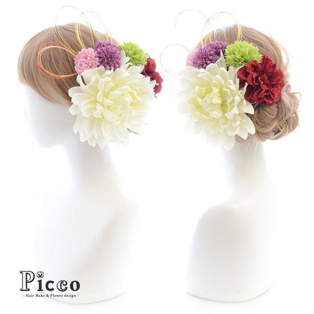 Gallery 135 Order Made Works Original Hair Accesory for WEDDING #byPicco #大人気#定番#和スタイル#着物#カラー#パープル#アレンジ #オリジナル#オーダーメイド#髪飾り#結婚式#和装#前撮り #花飾り#イベント#色打掛#造花#ヘアセット#アップスタイル#ブライダル#花嫁#水引 #hairdo#flower#event#japanese