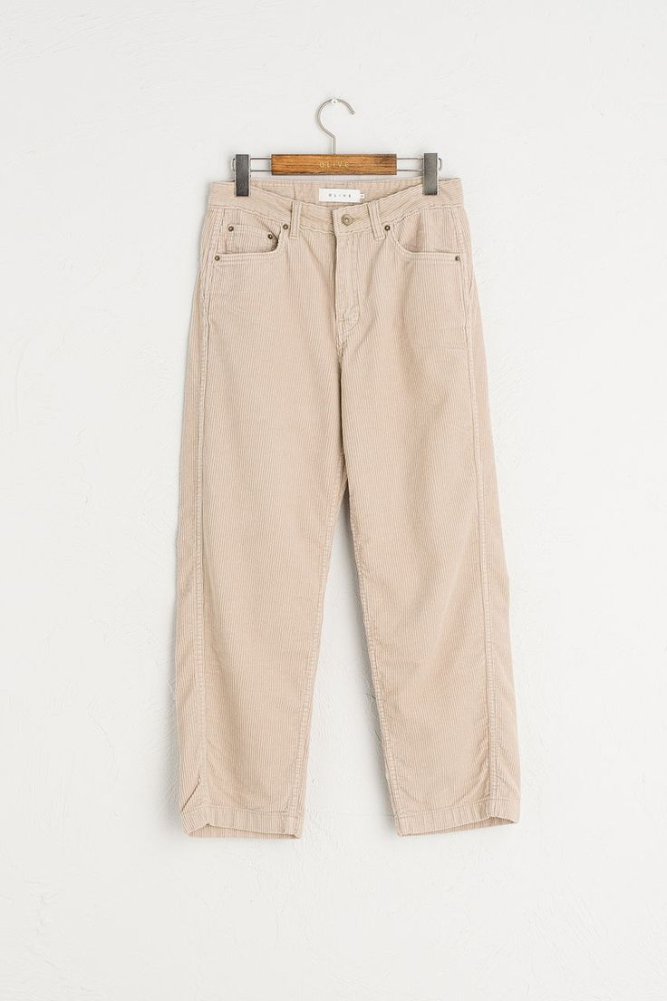 Wide Cord Trousers, Ivory