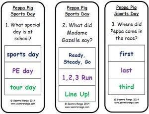 Peg Comprehension: Peppa Pig Sports Day
