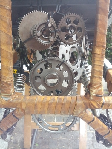Making of the time machine used by the performers at Madame Zingara's Theater of Dreams