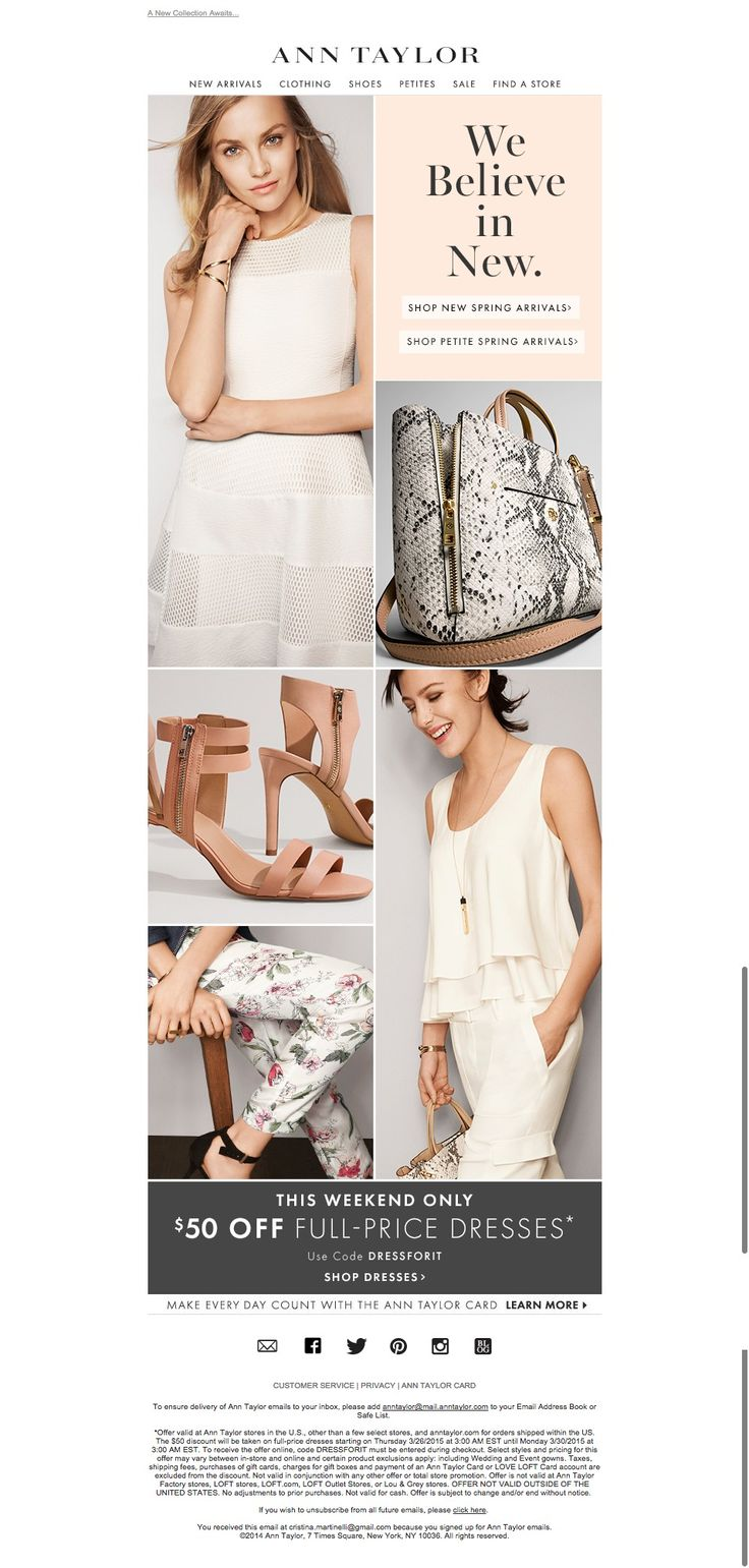 #newsletter Ann Taylor 03.2015 NEW Spring Arrivals Are Here
