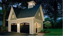 Carriage House Plans - I like the idea of a private space for overnight guests.