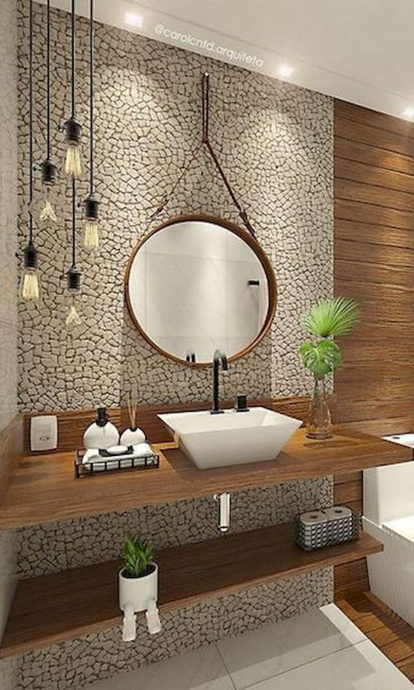 24 Great Ideas For His And Her Bathroom Sinks Traditional Bathroom Rustic Bathrooms Small Rustic Bathrooms