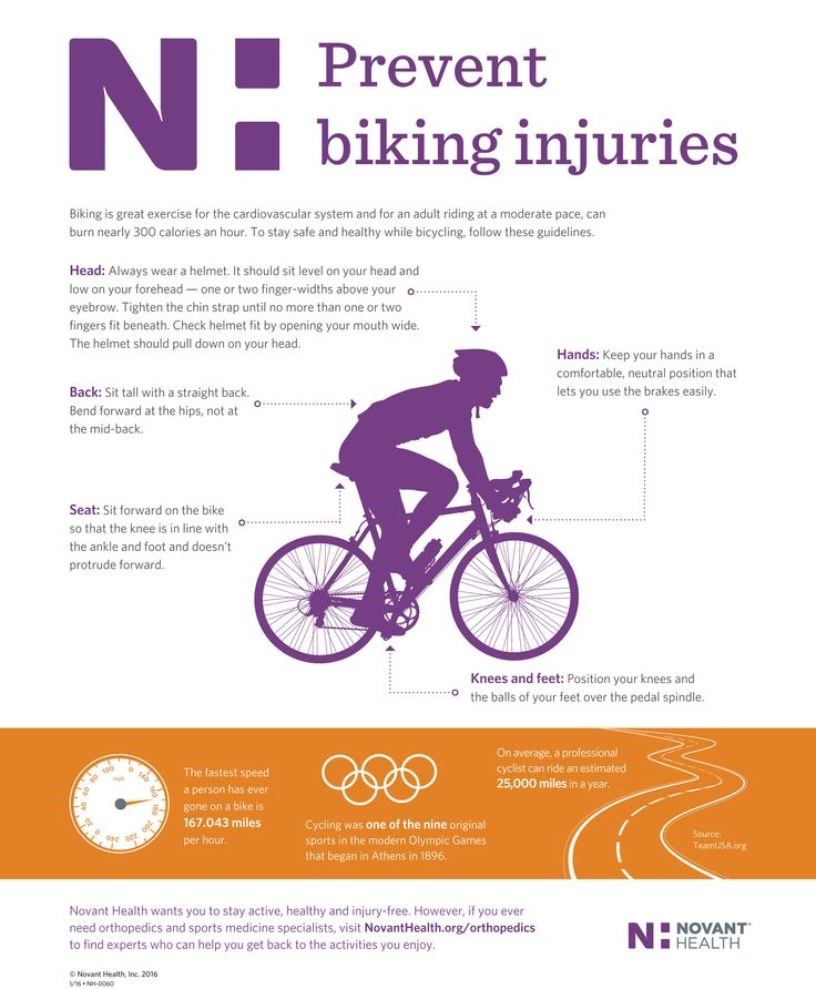 Biking is great exercise for the cardiovascular system and