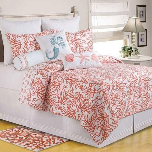 Coral bedspread!