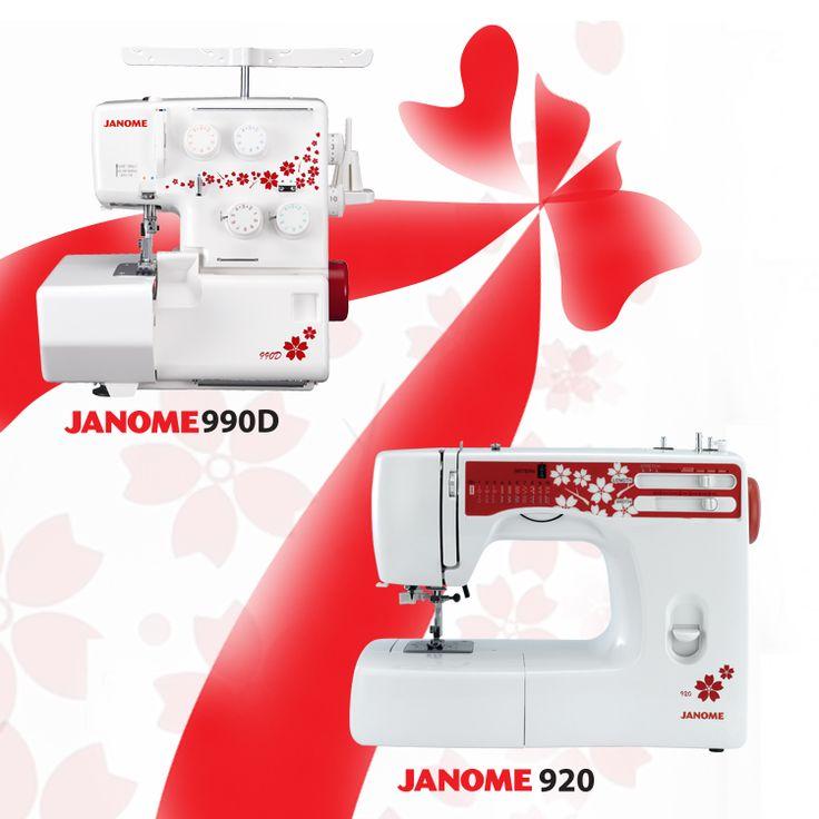 JANOME 920 + JANOME 990D SET – Zestaw promocyjny: maszyna wieloczynnościowa 21 programów szycia + owerlok 3, 4-nitkowy