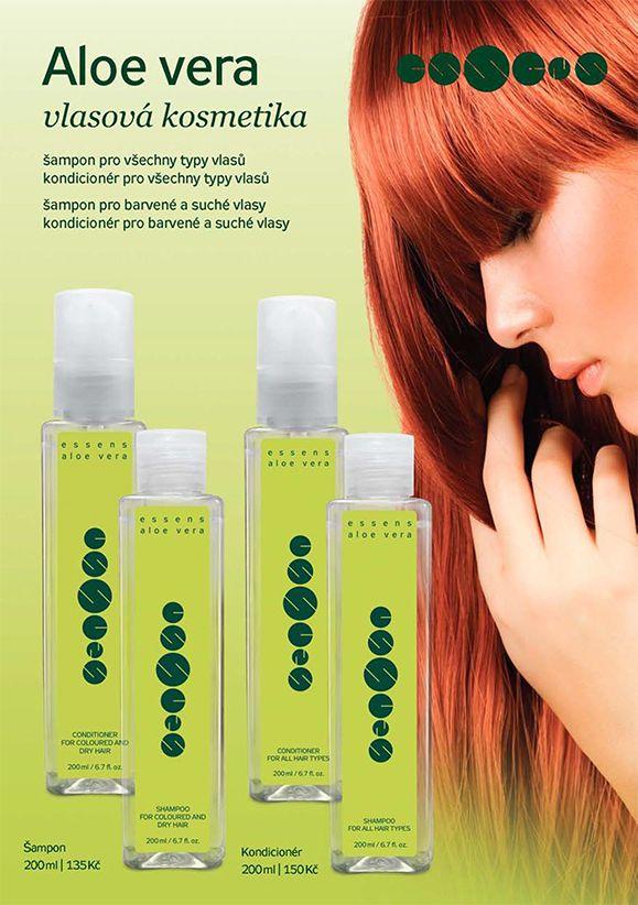 Aloe vera vlasová kosmetika - Doporučujeme v péči o vlasy Aloe šampon a kondicionér pro všechny typy vlasů a Aloe šampon a kondicionér na barevné a suché vlasy.  http://essensclub.cz/aloe-vera-vlasova-kosmetika/