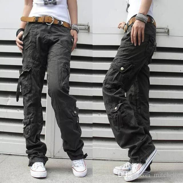 Women s Winter Thick Pants Womens Army Fatigue Camouflage Cargo Pants Hip Hop Harem Baggy Pants Multi Pocket Trousers 18 2