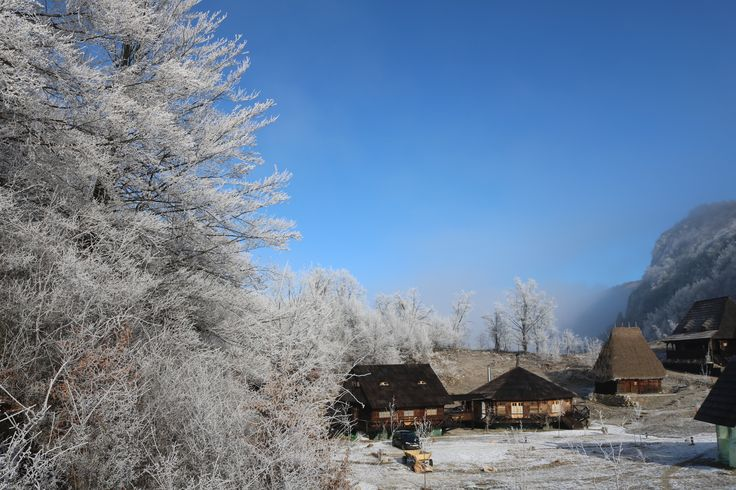 Raven's Nest, the Hidden Village in Transylvania.  Winter time at the Nest.
