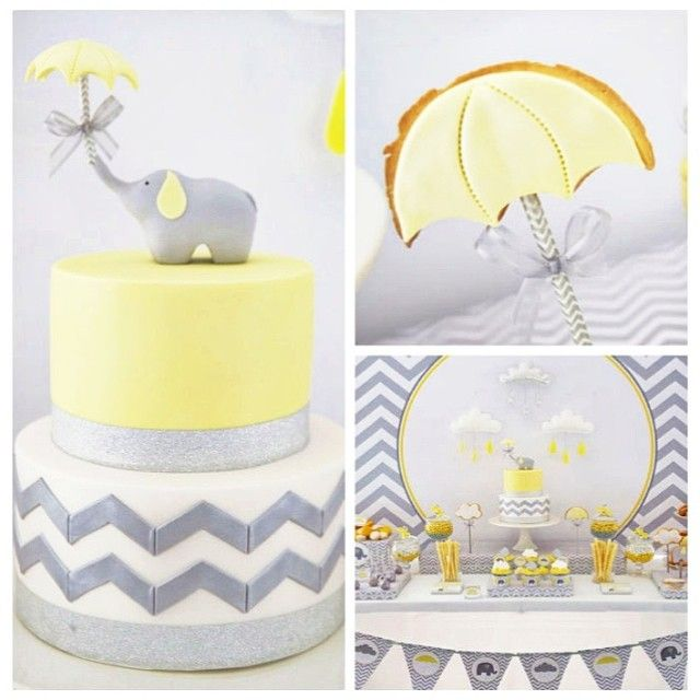 66 Best Yellow And Gray Elephant Baby Shower Theme Ideas Images On