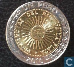 Coins - Argentina - Argentina 1 peso 2010