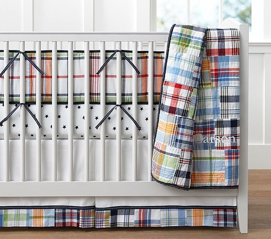 Madras Nursery Bedding | Pottery Barn Kids