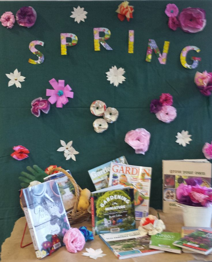 Spring book display Queanbeyan City Library