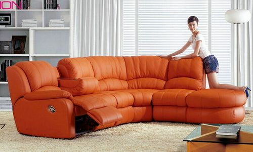 contemporary leather recliner sofa