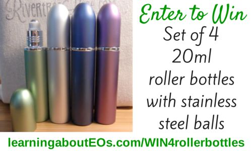 GIVEAWAY: Set of 4 Extra Large (20ml) Roller Bottles with Stainless Steel Balls | Learning About EOs - Using Essential Oils Safely