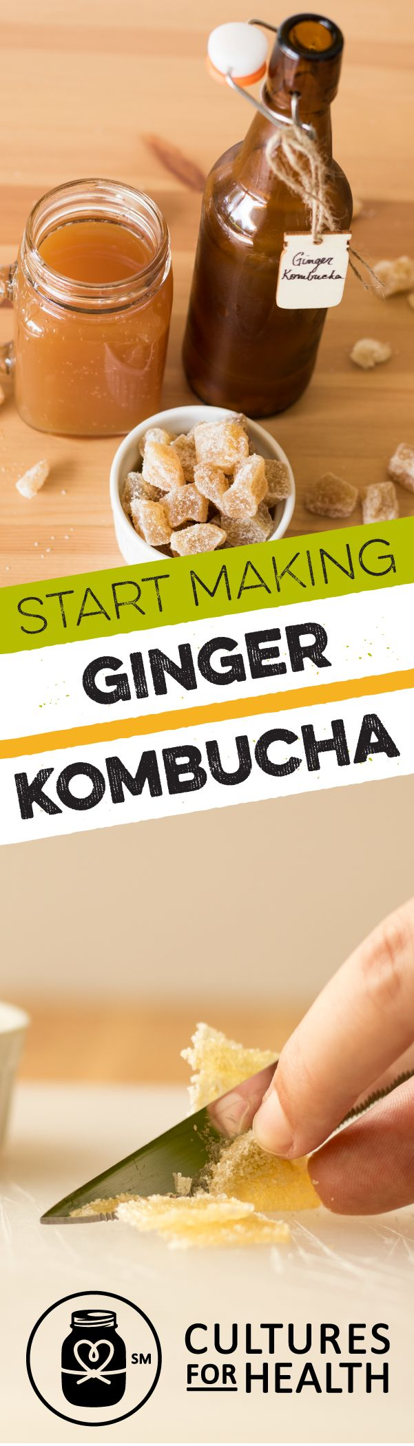 Learn to make homemade ginger kombucha, just like the spicy and refreshing version you see in the store. With this all-in-one kit, it couldn't be easier to make this fermented treat.