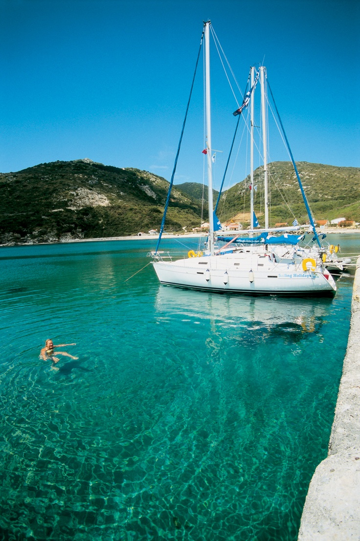 Othoni old harbour in the Far Away Islands - a new stop on the Emerald Waters flotilla!