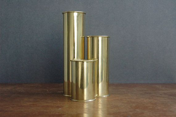Staffan Englesson Brass Candle Holder Set Swedish by JunkHouse, $95.00