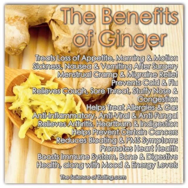 benifits of ginger