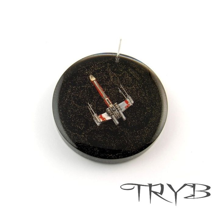 X-Wing - legendary rebel fighter model, handmade of watch parts. Dimension was only 16mm wight, and diameter of entire pendant was 40mm.  #X-wing #star_wars #pendant #handmade #clockwork #tryb #jewelry