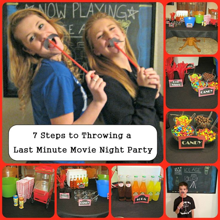 12 best images about movie night party on pinterest for Last minute party ideas