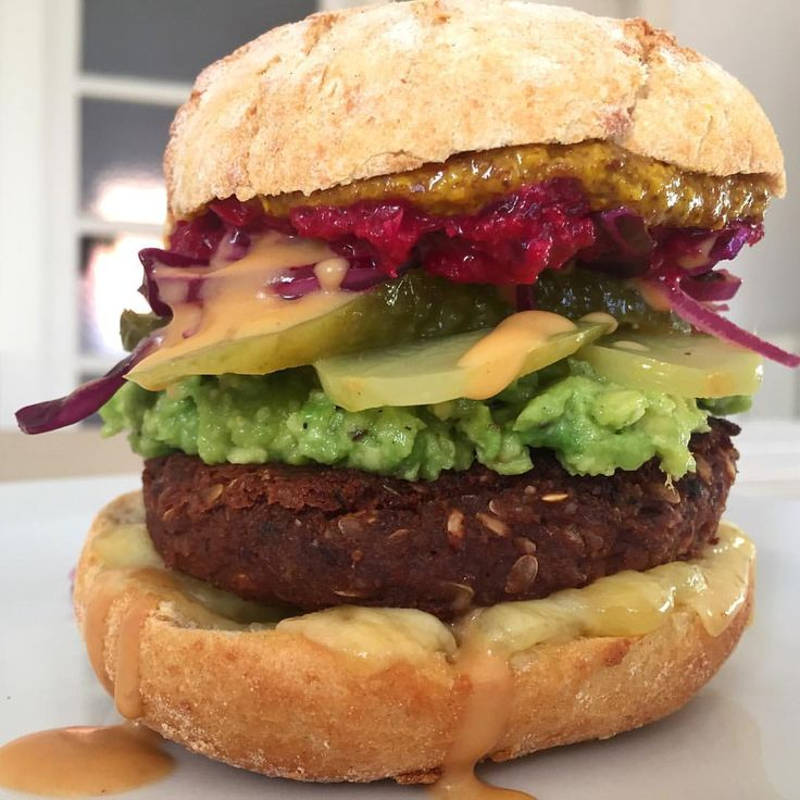 Yes, you can have #veganburger for #breakfast!