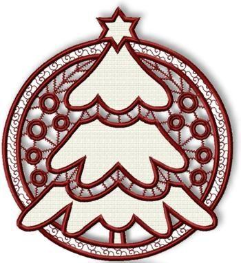Cutwork Christmas Tree