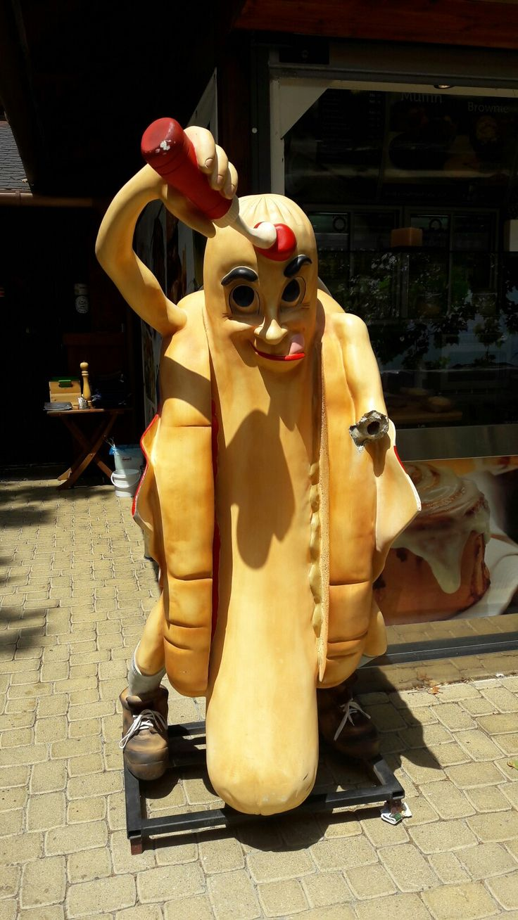 Giant hot-dog in Siófok, Hungary