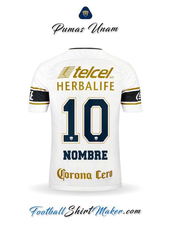Camiseta Pumas UNAM 2017 2018 Nombre 10  d0c91c2d5f305